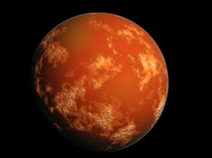 An artists impression of Mars.